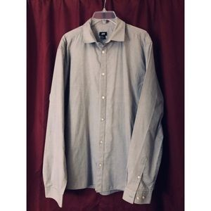 Men's H&M gray button-down shirt, Sz. XL